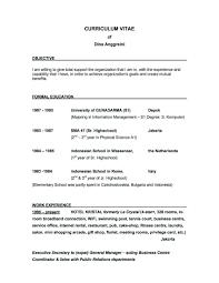 Good Resume Goal Statement Resume For Study