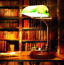 banker desk lamp bankers green classic table style with glass shade
