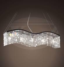 crystal linearhandelier from the bedazzleollection uk swarovski modern rectangular island dining room unusual linear chandelier ideas