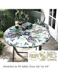 outdoor table cloth 7 ways to make umbrella holes tablecloth oilcloth round
