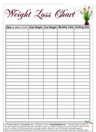 weekly weigh in charts printable weight loss charts weight loss chart free printable and