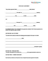 purchase agreement sample purchase agreement templates lovetoknow