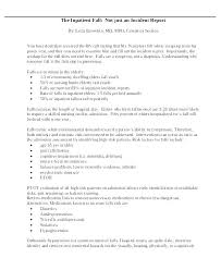 Incident Report Examples Samples Doc Pages Hospital Template