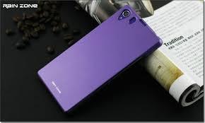 sony xperia z1 purple. sony xperia z1 l39h rain zone mattete case purple