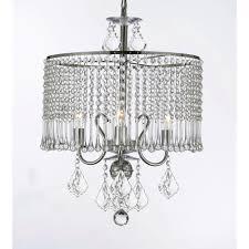 harrison lane empress 3 light chrome crystal chandelier