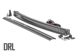 50 Inch Cree Curved Light Bar Rough Country 50 Inch Curved Cree Led Light Bar Dual Row Black Series W Cool White Drl Part 72950blkdrl