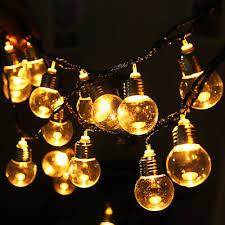 Bulb Shape <b>6M 20LED</b> String Fairy Light Warm White <b>Christmas</b> ...