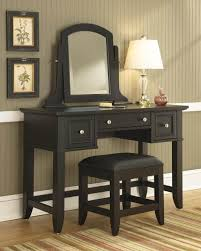 Small Bedroom Vanity Table Furniture Solid Wood Makeup Vanity Desk With Mirror And Drawers