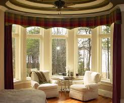 Red Curtains Living Room Remarkable Bay Windows Curtains For Living Room Decoration With