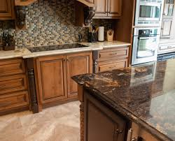 Contrasting Island And Main Countertops Granite Kitchen Granite - Granite countertop kitchen