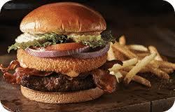 roadhouse hamburger and fries