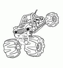 Blaze Monster Truck Stripes Coloring Page For Kids Transportation
