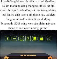 Loa Bluetooth S208 (2019) Hàng Xịn Sò, Giá Gốc, Mua Ngay Kẻo Hết Loa  Bluetooth S208 Không Dây Âm Thanh Stereo Trầm Công Suất Lớn Loa Sạc USB  Mini FM Radio Bảo