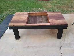 pallet coffee table with planter box