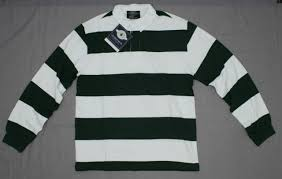 nwt charles river apparel mens classic rugby shirt green white medium 02079