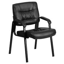 leather executive guest reception waiting room chair black com