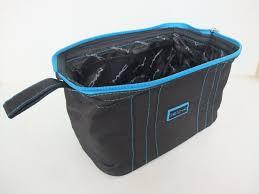 mac makeup bag black blue lady cosmetic cases travel organizer cosmetic bag
