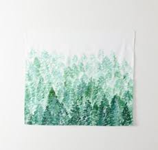 pine tree tapestry small wall tapestry
