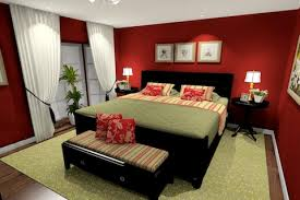 red bedroom furniture. red bedroom paint with green accents dark wood furniture o