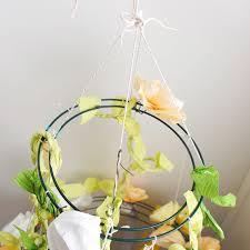 paper flower chandelier top construction