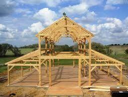 timber frame barn exterior