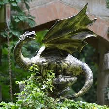 mystical dragon 100cm bronze garden statue metal sculpture