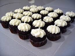 chocolate cupcake with cream cheese frosting. Wonderful Cheese Mini Chocolate Cupcakes With Cream Cheese Frosting Bakingbitescom  Donna  Stafford Smith Throughout Cupcake With Frosting A