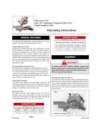Compound Miter Angle Chart Milwaukee Compound Miter Saw Operating Instructions