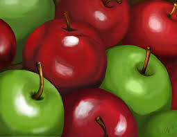 green and red apples. green and red apples by kissemm