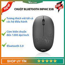 Chuột Bluetooth Mini Inphic E5B 1200DPI, Không Dây Im Lặng Văn Phòng  -dc4521