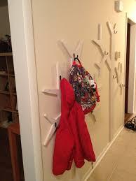 White Wall Mounted Coat Rack With Shelf Double White Wooden Wall Mounted Coat Rack With Black Metal Hook On 80