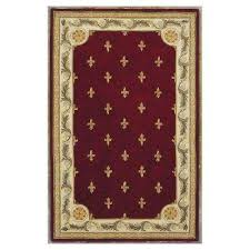 antique fleur de lis red 9 ft x 12 ft area rug