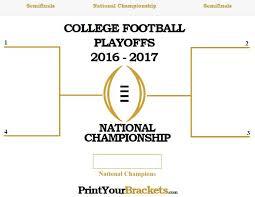 Printable 2016 2017 College Football Playoff Bracket