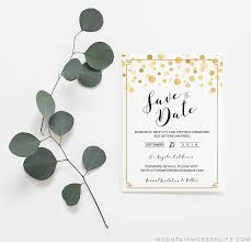 Modern Gold Diy Save The Date Template Mountainmodernlife Com