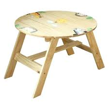 round wooden kids table astonishing unfinished wooden kids round table with cartoon jungle animals decor round wooden kids table