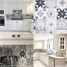 kitchen backsplash. Simple Backsplash 12 Stunning Ideas For Painting A DIY Kitchen Backsplash Design With Wall  Stencils  Royal On