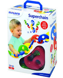 <b>Набор развивающий</b> конструктор <b>Miniland</b> Superchain (16 ...