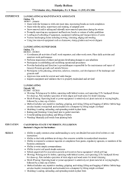 Landscaping Resume Landscaping Resume Samples Velvet Jobs