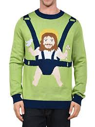 Tipsy Elves Men\u0027s Sweet Baby Jesus Ugly Christmas Sweater - Funny