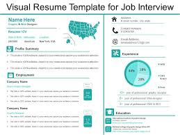 Resume For An Interview Visual Resume Template For Job Interview Presentation