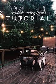 Hanging Patio Lights On Deck Pin On Backyard