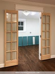 pantry french doors - 6 - bifold closet doors installed as double French  doors