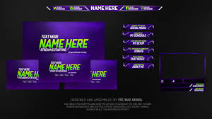 Psd Download Free Twitch Overlay Template Pack 2 Psd Free Download Youtube