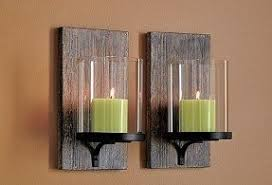 Modern wall candle sconces