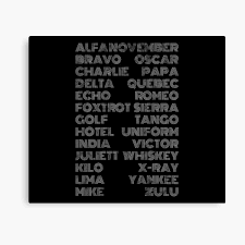 More memes, funny videos and pics on 9gag. Military Phonetic Alphabet Canvas Prints Redbubble