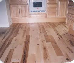 all finished with three coats of water based polyurethane hickory hardwood flooring with tile inlay