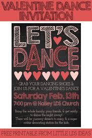 Dance Invitation Ideas Lds Valentine Ward Activity From I Believe Pinterest