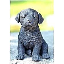labrador garden statue dog black retriever puppy sitting garden statue life like decor chocolate lab garden