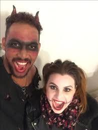 red devil makeup men doll