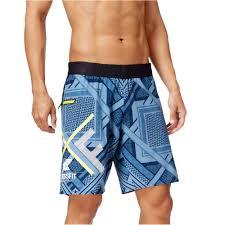 Reebok Mens Geometric Crossfit Athletic Workout Shorts